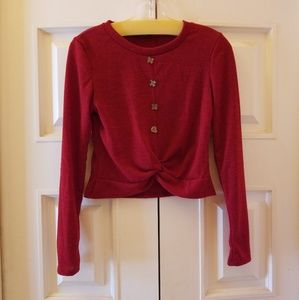 PaperMoon Sweater Cropped Raspberry M
